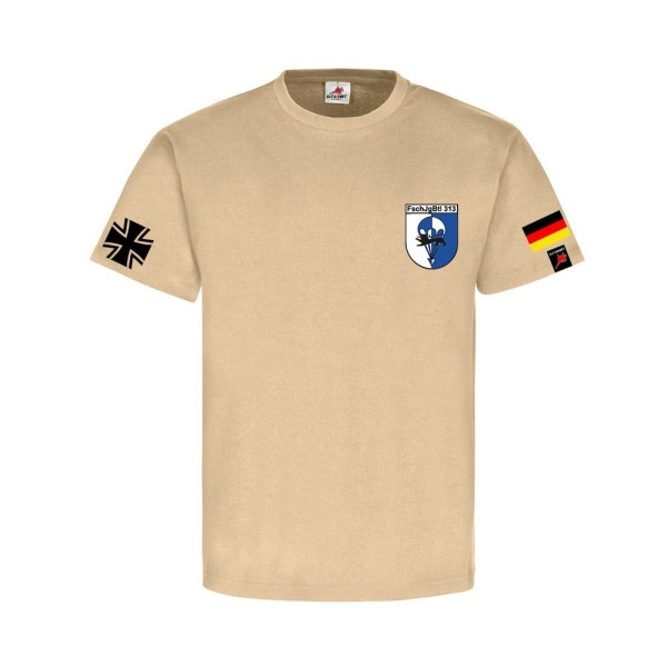 FschJgBtl 313 Bundeswehr Balkenkreuz Fallschirmjäger Bataillon T Shirt #31330