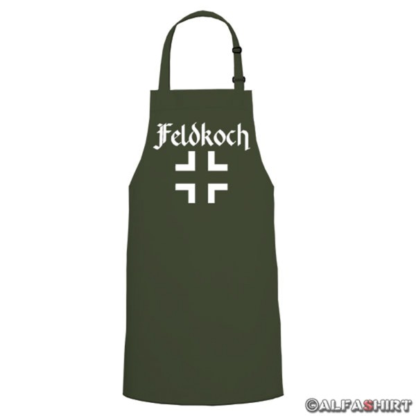Feldkoch Balkenkreuz cooking barbecue - cooking apron / grill apron # 6146