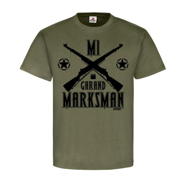 M1 Garand Marksman Us Army Schütze Gewehr Deko Soldat GI Rifle T Shirt #20272