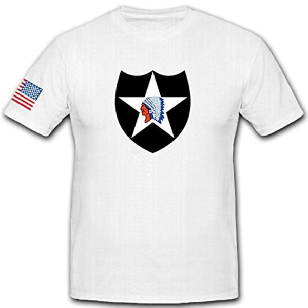 2US Infantry Division 2nd InfDiv Badge Military Crest SSI - T Shirt # 12484