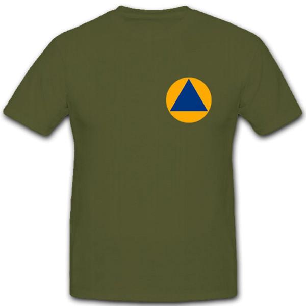 Das internationale Schutzzeichen des Zivilschutzes- T Shirt #5999