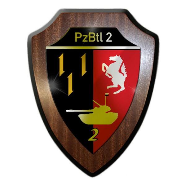 Wappenschild - PzBtl 2 Panzerbataillon 2 Einheit Bundeswehr #13619