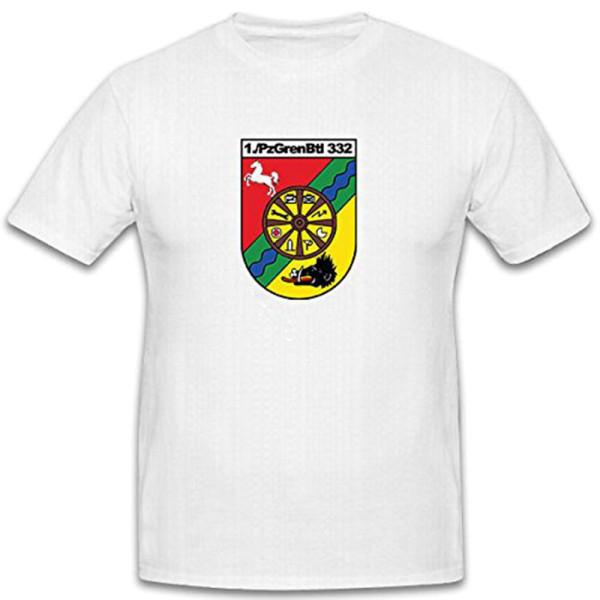 1 Pzgrenbtl 332 Panzergrenadierbataillon 332 1.Kp 1 Kompanie - T Shirt #6569