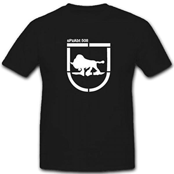 sPzAbt 508 schwere Panzer Abteilung 508 Tiger Wappen - T Shirt #12007