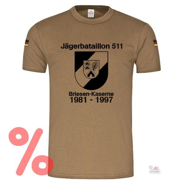 Gr. M - SALE Shirt Jägerbataillon 511 Jäger Briesen-Kaserne Bundeswehr #R1084