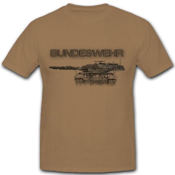 Leopard Panzer Bundeswehr Panzermann Deutschland- T Shirt #8277