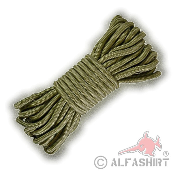 Survival Rope Olive BW Outdoor Rappelling Tactical Commando Knitting 15m 9mm # 17590