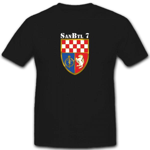 SanBtl7 Bundeswehr Militär Wappen Sanitäter - T Shirt #6248