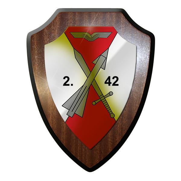 Wappenschild - 2 FlarakGrp 42 Flugabwehr Raketen Gruppe Bundeswehr #12500