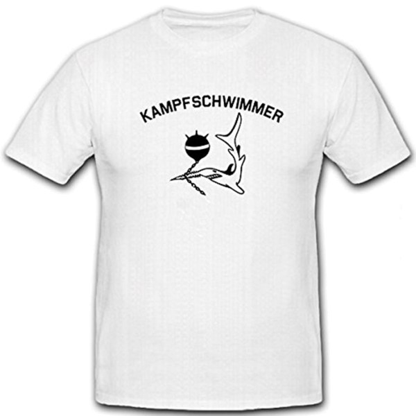 Kampfschwimmer Sägefisch Haifisch See Mine Meer- T Shirt #9395