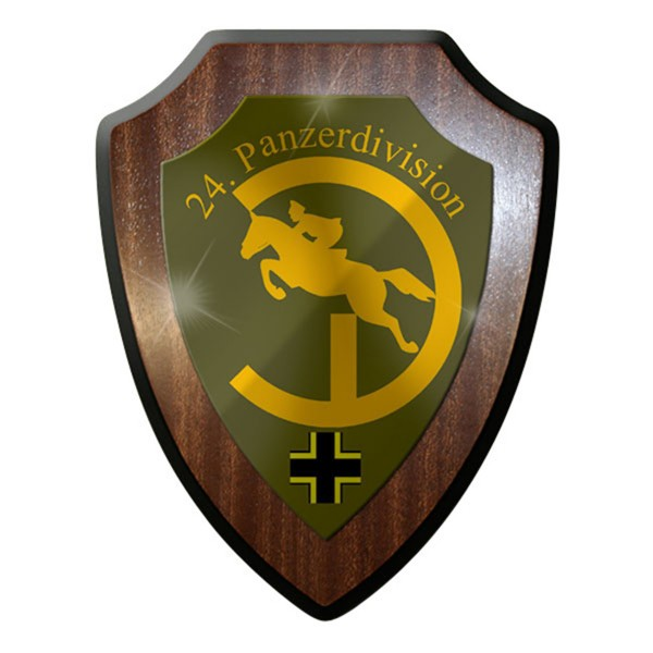 Wappenschild / Wandschild - PzDiv 24 Balkenkreuz Panzer Division - #13093