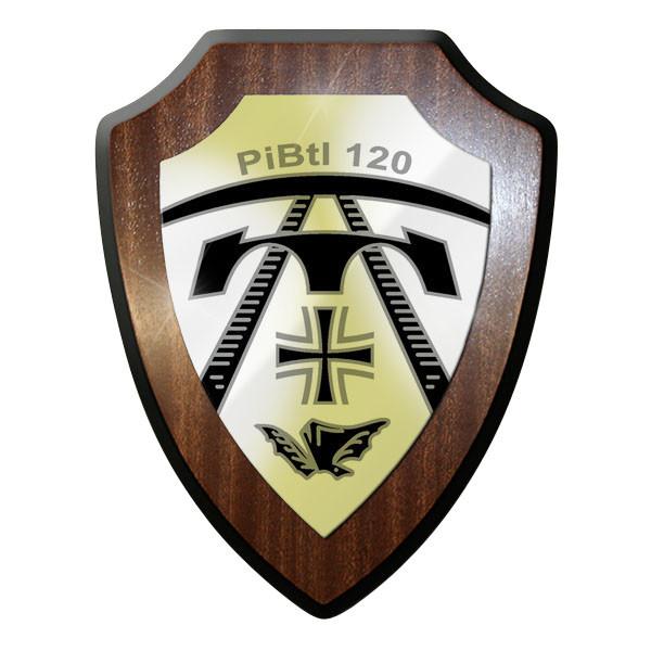 Wappenschild / Wandschild / Wappen - PiBtl 120 Pionier Bataillon Heer #11674
