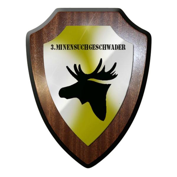 Wappenschild / Wandschild / Wappen - 3. Minensuchgeschwader Marine Elch #7057