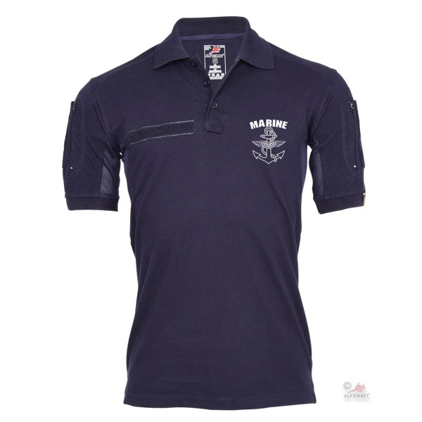 Tactical Polo Navy German Navy MFG Navy Pilot Sailor BW Anchor # 25538