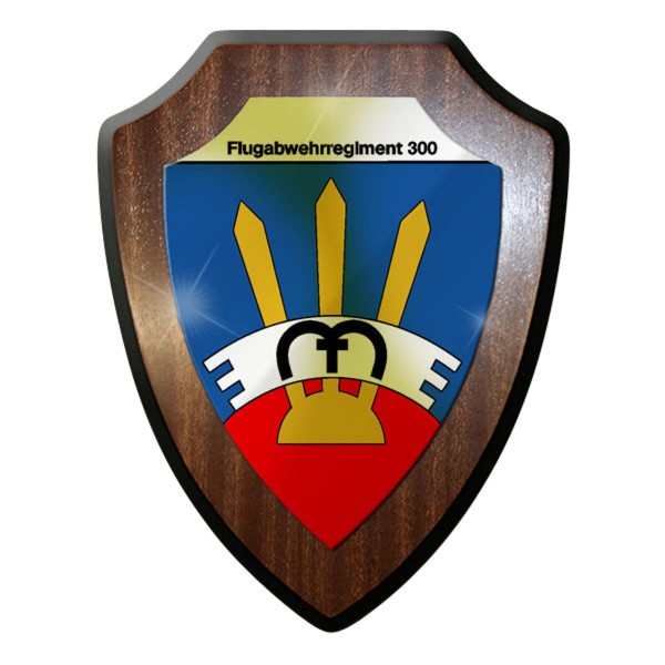 Wappenschild / Wandschild -Flug Abwehr Regiment 300 Flug Abwehr Raketen #9612