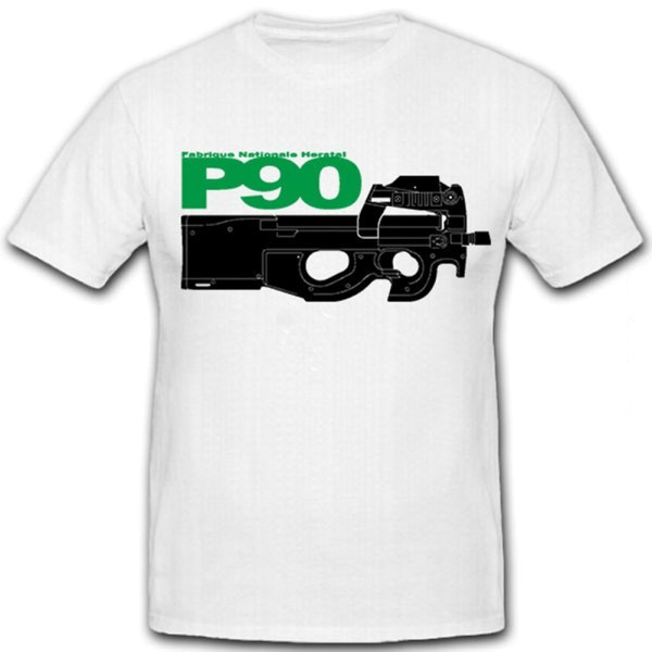 P90 Fabrique Nationale Herstal-FN Personal Defence Weapon MP - T Shirt #12408