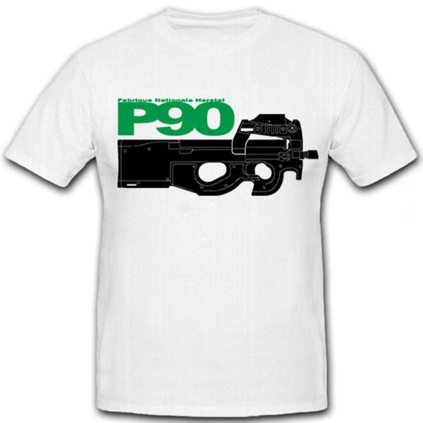 Nationale Fabrik P90 Herstal-FN persönliche Verteidigungswaffe MP - T-Shirt # 12408