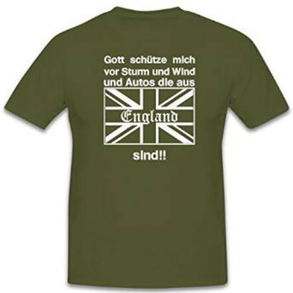 God bless you from storm and wind and cars from ENGLAND - T-shirt # 12150