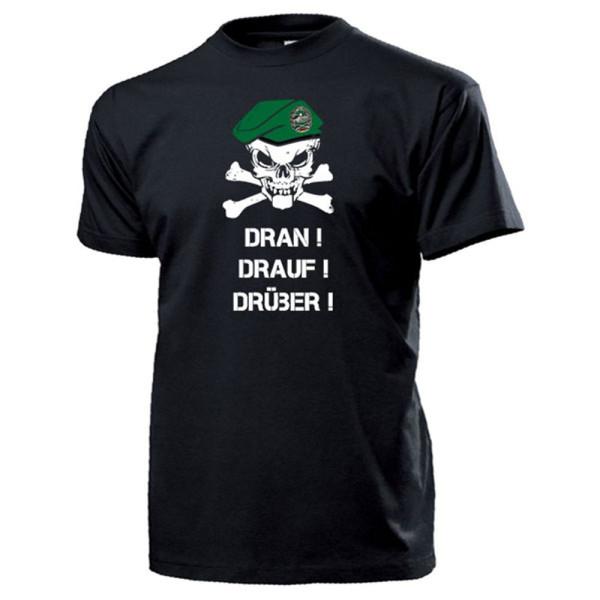 Panzergrenadier BW Barett Bundeswehr Grenadier DRAN DRAUF DRÜBER T Shirt #14318