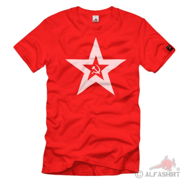 Jack and fortress Flag Soviet Union Flag Logo Star T-Shirt # 105