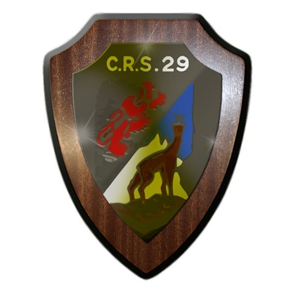 Wappenschild / Wandschild - C.R.S.29_ CRS 29 Schweizer Armee Gebirgsjäger #14332