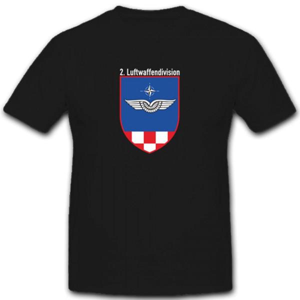 Wappen Kommando Deutsche Bundeswehr 2.Luftwaffendivision Kp- T Shirt #3924