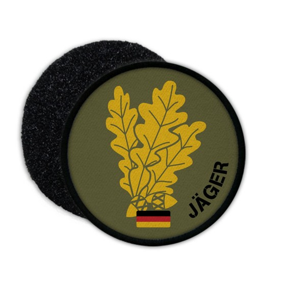 Patch Jäger Eichenlaub BW Jägertruppe Einzelkämpfer Barett Aufnäher #23253