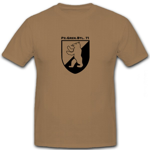 PzGrenBtl 71 Panzer Grenadier Bataillon Bundeswehr Wappen - T Shirt #5923