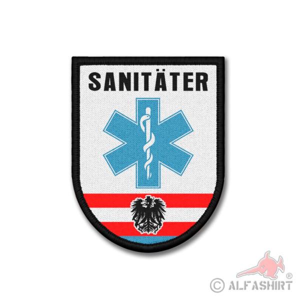Patch Sanitäter Polizei Österreich Sani Arzt Rettungsdienst 9x7cm #26181