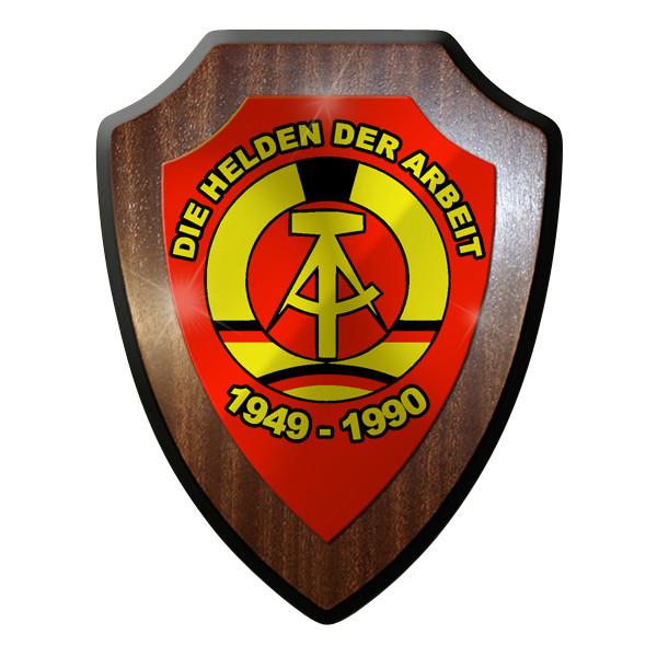 Wappenschild - DDR deutsche demokratische Republik Helden der Arbeit #9273