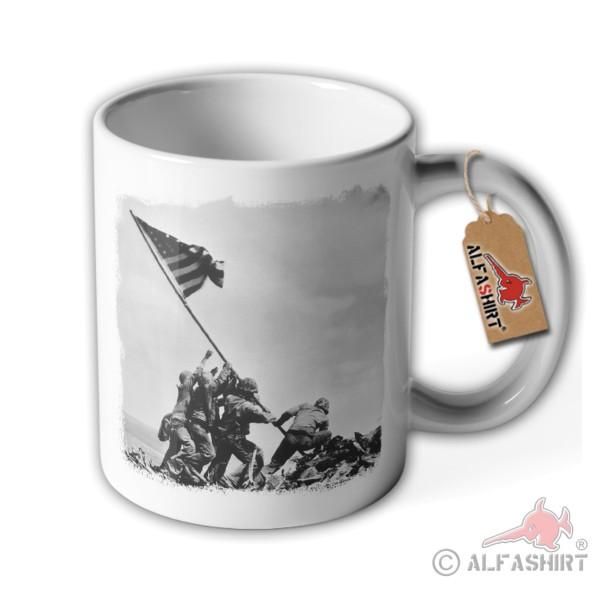 Tasse Flagge hissen Iwo Jima US Japan Militär GI's Marines Historisch #36165