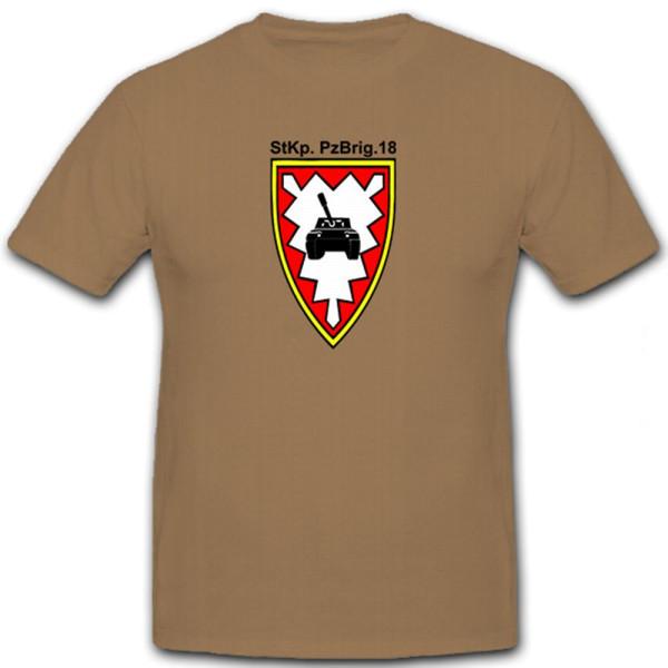 StKp PzBrig 18 Stabskompanie Panzerbrigade Bundeswehr Wappen - T Shirt #5798