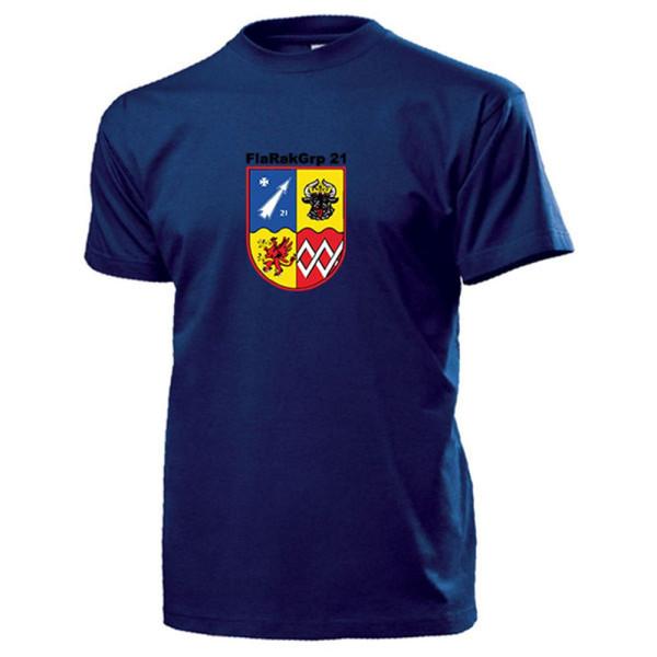 FlaRakGrp 21 Flugabwehrraketengruppe Wappen Bundeswehr Sanitz - T Shirt #13160