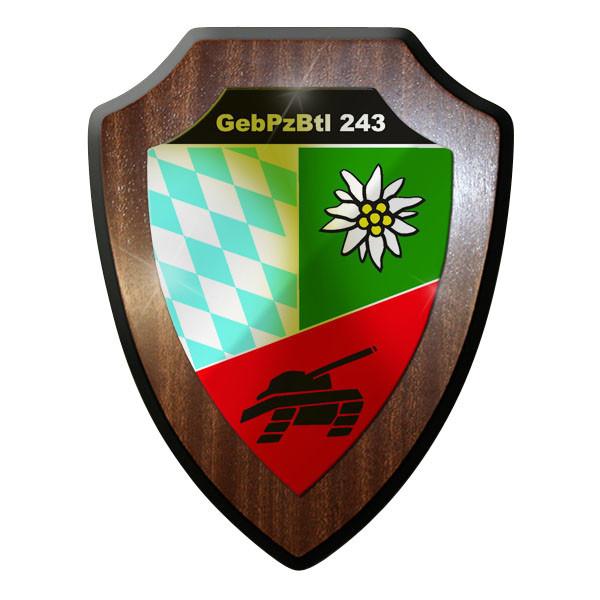 Wappenschild - GebPzBtl 243 Gebirgs Panzerbataillon Panzer Bataillon #9338