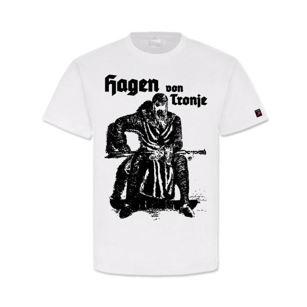 Hagen von Tronje Nibelungensage Ritter Wagner Germanen - T Shirt #14155