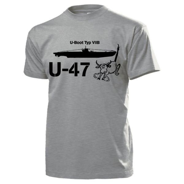 UBoot Typ VIIB U47 Marine Stier Scapa Flow Günther Prien T Shirt #13220