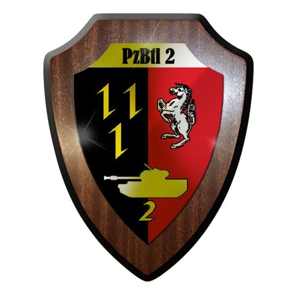 Wappenschild / Wandschild - PzBtl 2 Panzer Bataillon 2 Panzerbataillon - #12036