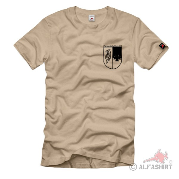 Chest badge PzBtl 413 Tergelow Bundeswehr Panzer Wappen T Shirt # 1131