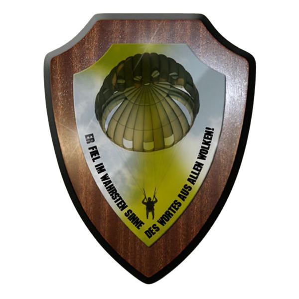 Wappenschild -Fallschirmspringer Er fiel im ! Rundkappe #12761