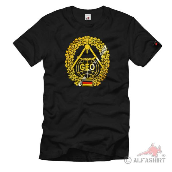 Barettabzeichen Topographietruppe GEO Heer militärgeographisch T-Shirt #1092