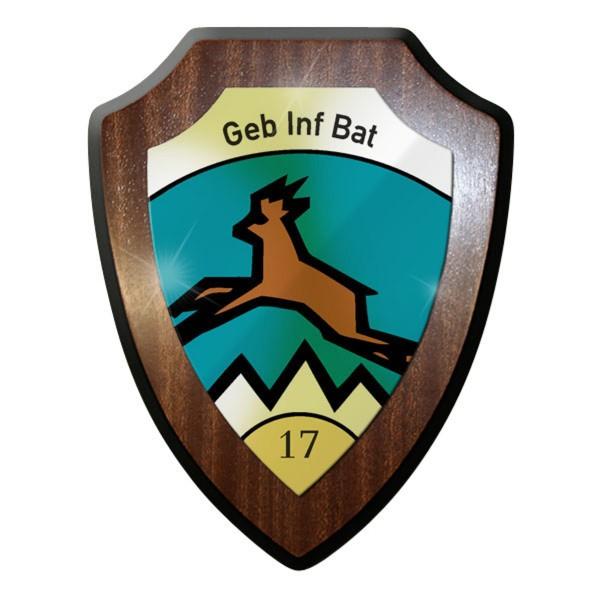 Wappenschild - GebInfBat 17 Gerbirgsinfanteriebataillon Gebirge - #11735