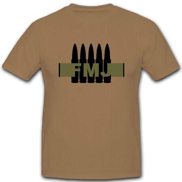 FMJ Full Metal Jacket Vollmantel Geschoss Kalibet 7,62 Munition - T Shirt #5165