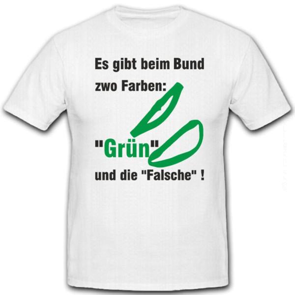 Es gibt beim Bund zwei Farben grün und die Falsche Bundeswehr Bw T Shirt #12877