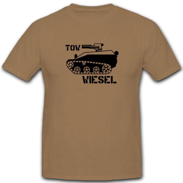 TOW Wiesel-Bundeswehr Luftlande klein Panzer Fallschirmjäger- T Shirt #7843