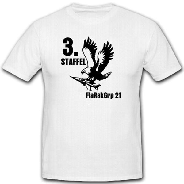 3 Staffel FlaRakGrp 21-Flugabwehrraketenguppe Luftwaffe - T Shirt Herren #12751
