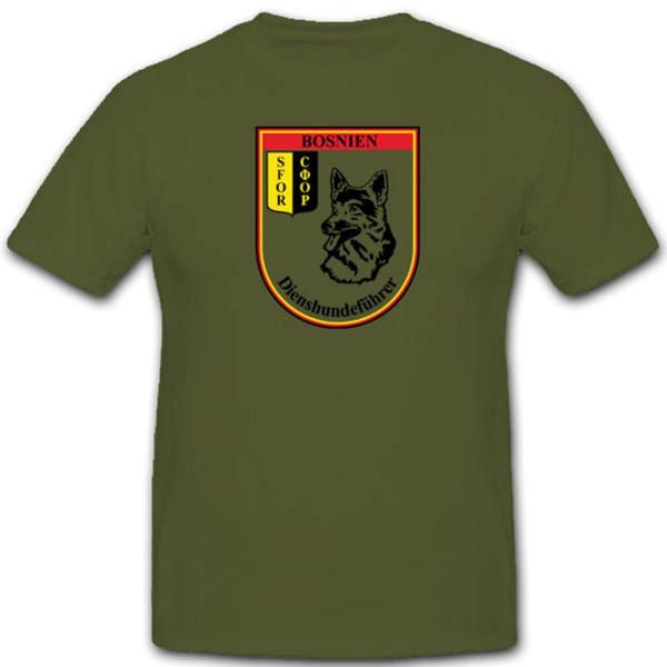 Bosnien Herzegowina Bundeswehr Wappen Schäferhund Dienst Führer - T Shirt #3460