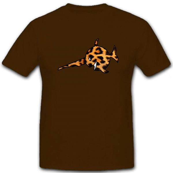Leopard Skin Sawfish Leo Leoprint Animalprint Submarine Fun - T Shirt # 12182
