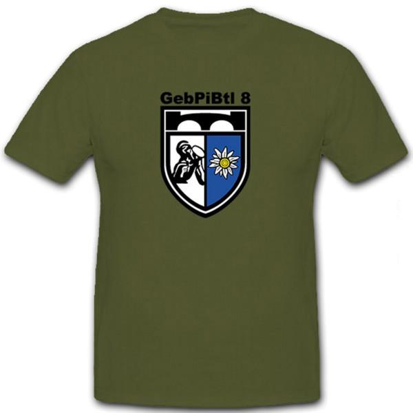 GebPiBtl 8 Gebirgs Pionier Bataillon Bundeswehr Militär - T Shirt #5831