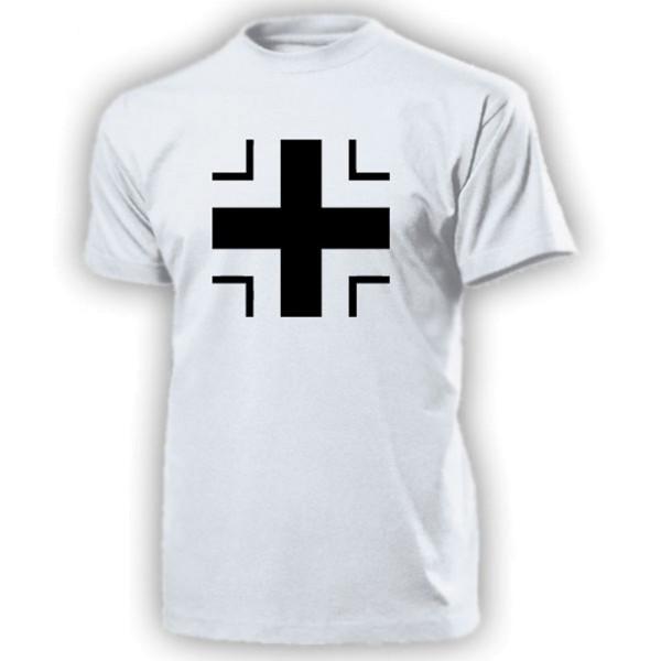 Schwarzes Balkenkreuz Hoheitsabzeichen Panzer Kennung - T Shirt #13384