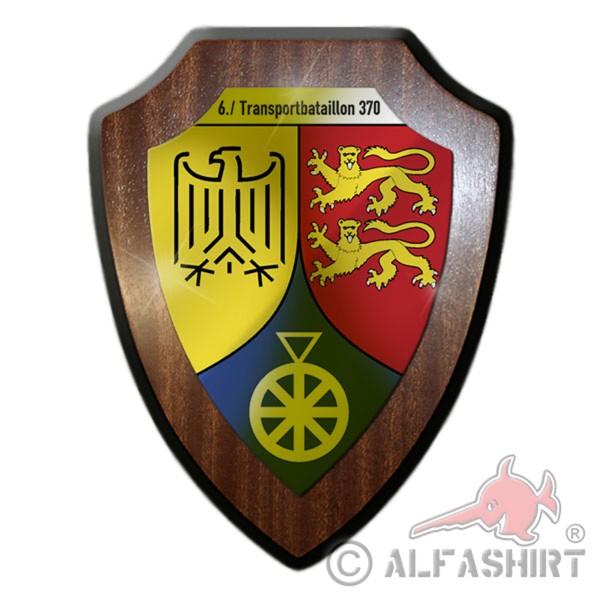 Wappenschild / Wandschild - 6. Transportbataillon 370 TrspBtl 370 - #12045